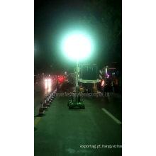 Torre clara móvel do gerador elevado das luminárias