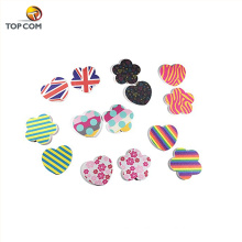 240 grit Nail Buffer block cute Hearts Flower Colorful Designs Bulk cheap mini nail file