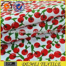 barato por mayor tejido de cereza impresión