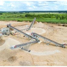 Quarry Using Mobile Rubber Belt Conveyor for Sand