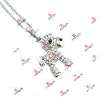 Fashion Circus Animal Horse Charms Pendant Chain Necklace Gifts (JDE60128)