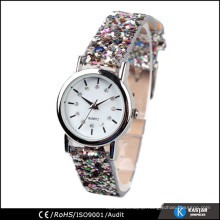 charming princess fashion quartz watch leather lady glitter watch
