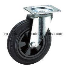 6 Inch Plastic Trashbin Rubber Caster Wheel