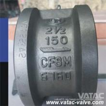 Válvula de retención de chapa doble de acero inoxidable API594