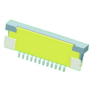 FPC-connector 0.8mm Onderste contact SMT12-pen