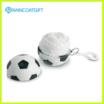 Disposable PE Raincoat Soccer Ball with Key Chain Rvc-082