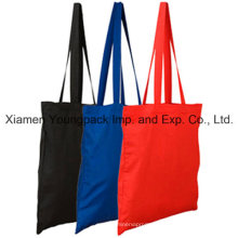Fördernde gefärbte farbige lange Handgriff-Baumwollsegeltuch-Beutel für das Einkaufen