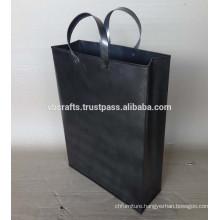 Industrial Hand Bag. Metal made natural finish