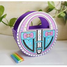 bolso de compras hecho a mano del fieltro del colorante de DIY de los niños