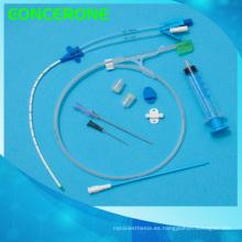 Conjunto de catéter de doble luz para uso hospitalario