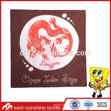 Логотип логотип дракона логотип микроволокна ткани для чистки, пользовательские микрофибры милый чистящей ткани с печатью