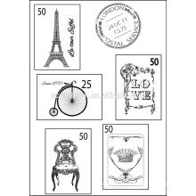 Tarjetas de felicitación de claro sello pad
