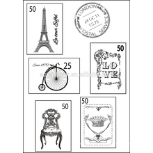 Clear stamp pad greeting cards