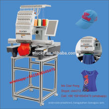 Commercial 15 colors small computerized embroidery machine for cap/T-shirt embroidery