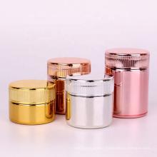 electraplating rose gold 1oz 2oz 3oz glass cylinder empty child proof spice storage jar