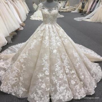 Alibaba vestido de boda del vestido de bola de las mujeres de alta calidad de lujo 2017 WT340