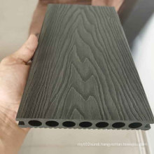 High Quality Black 3D Deep Embossed WPC Decking Poland