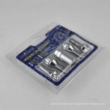 4 + 1 PCS Radschloss-Schraubensatz für Rad-Sicherheit