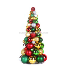 Shatterproof Lighted Christmas Plastic Ornament Tree