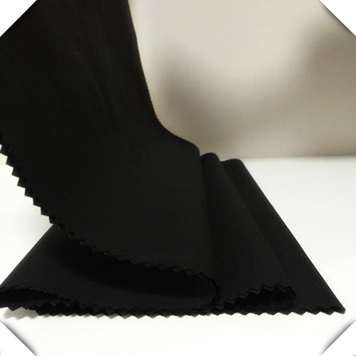 Polyester Cotton Mixed Woven Black Color Fabric For Shirts