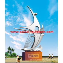 2016 New Urban Modern Sculpture High Quality Fashion Stainless Steel Sculpture
