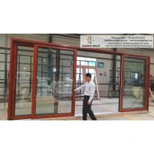Puerta interior de madera puerta corredera de vidrio con herrajes para puertas correderas