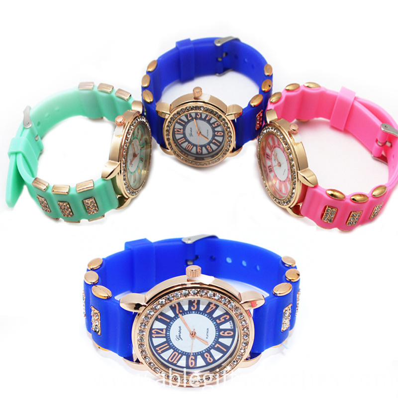 colorful diamond watch