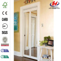 Iron Grill Glass Bathroom Interior Sliding Folding Door