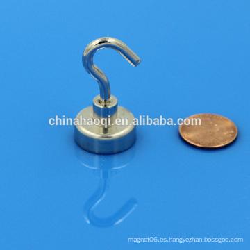 Ganchos magnéticos de imán de pote de alta calidad