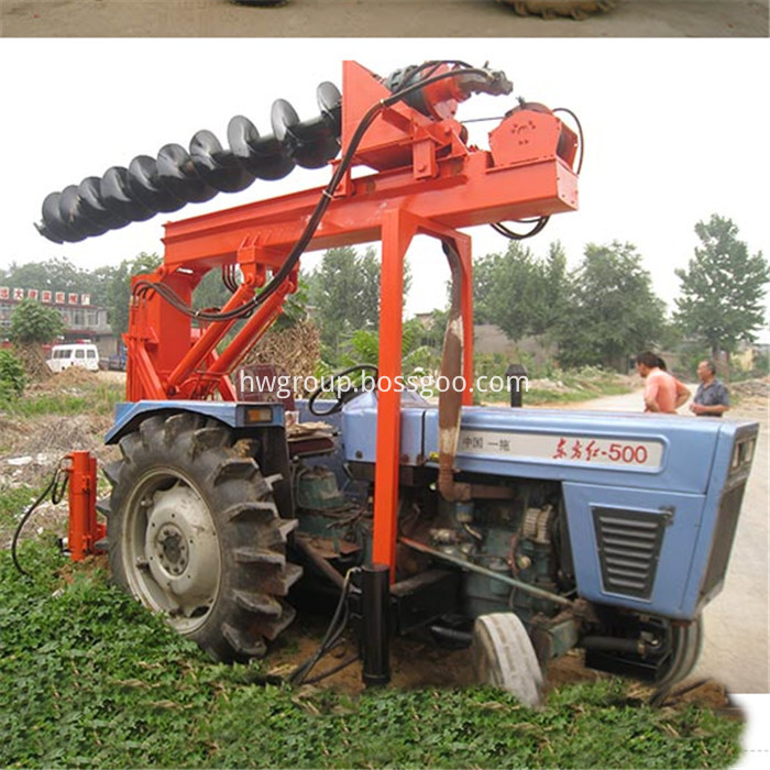 Tractor pile driver3