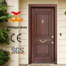 Puerta de seguridad blindada de madera de acero estilo turco