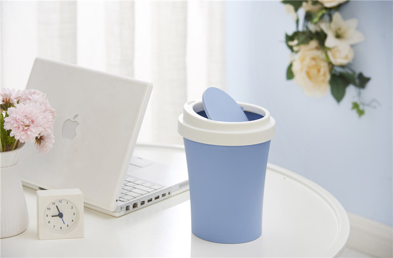plastic trash can mockup