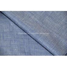 Tela de seda de morera veteada y tela mezclada de lino