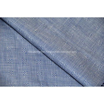 Worsted wool mulberry silk and linen blended fabric