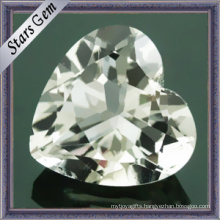 Natural Precious Heart Shape White Topaz Stone (STG-92)