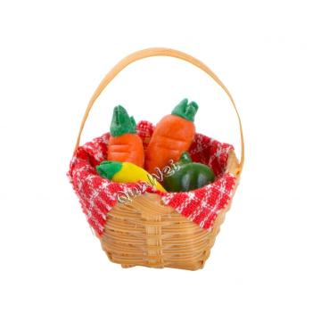 Dolls House Kitchen Miniature Resin Vegetable In Basket