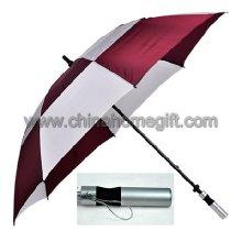 Double layer windproof golf umbrella