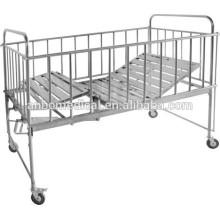 Hospital ou home care material de aço inoxidável cama de crianças