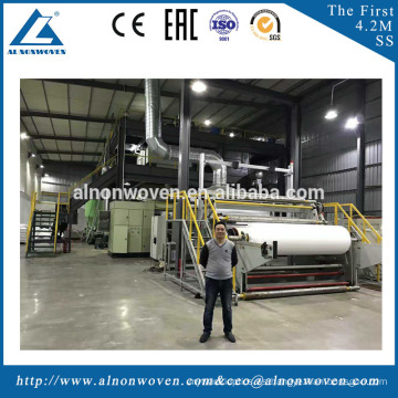 S/SS/SMS Nonwoven Fabric Making Machine for Making Shopping Bags,Baby Diaper and Medical Products
