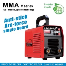 Cellulosic electrode welding machines suitable for 265V to 165V input MMA 180