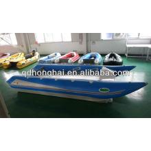CE alta velocidad catamarán inflable lancha