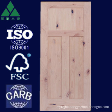 1/2/3/5 Panel Shaker Alder Solid Wood Door