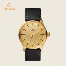 Nouvelle montre analogique pour homme en cuir noir 72282