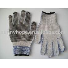 Пунктирная перчатка ПВХ для машины