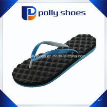 Neue Damen Black & Blue Flora Thong Flip Flop Sandalen