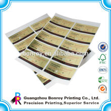 Cheap printing gold paper custom logo hologram sticker