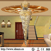 Wholesale price stable quality for Decorate Hanging Chandelier luxury crystal pendent lighting bali wedding decor crystal chandelier for staircases export to Russian Federation Factories