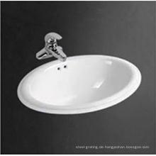 Heißer Verkauf Sanitärkeramik Counter Top-Runde waschen Schüssel Badezimmer über Zähler Becken
