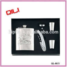 Hot sell cigar holder and flask stainless steel new products