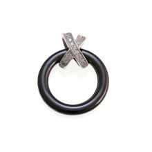Keramik und Sterling Silber Pendan für Geschenk (P20104)